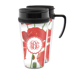 Poppies Acrylic Travel Mugs (Personalized)