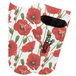 Poppies Adult Ankle Socks (Personalized)