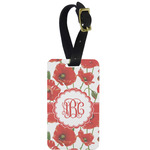 Poppies Aluminum Luggage Tag (Personalized)