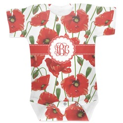 Poppies Baby Bodysuit (Personalized)