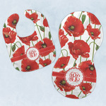 Poppies Baby Bib & Burp Set w/ Monogram