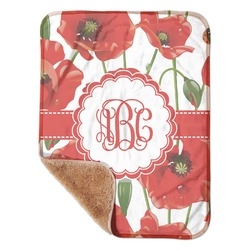 "Poppies Sherpa Baby Blanket 30"" x 40"" (Personalized)"