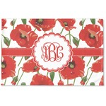 Poppies Woven Mat (Personalized)