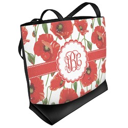Poppies Beach Tote Bag (Personalized)