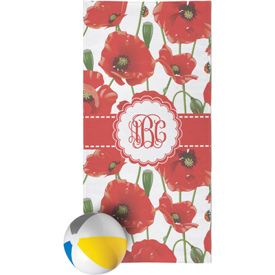 Poppies Beach Towel (Personalized)