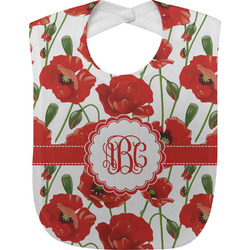 Poppies Baby Bib (Personalized)