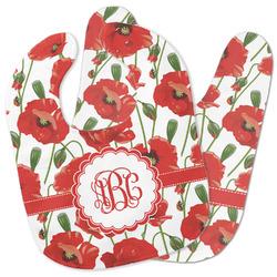 Poppies Baby Bib w/ Monogram