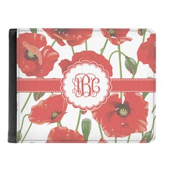 Poppies Genuine Leather Men's Bi-fold Wallet (Personalized)