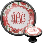 Poppies Cabinet Knob (Black) (Personalized)