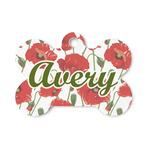 Poppies Bone Shaped Dog ID Tag (Personalized)