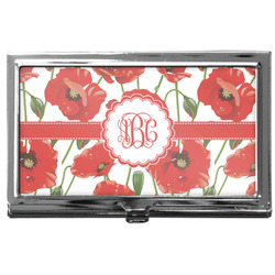 Poppies Business Card Holder