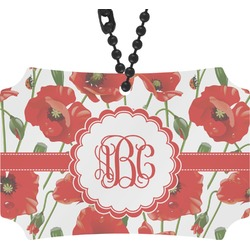Poppies Rear View Mirror Ornament (Personalized)