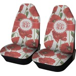 Poppies Car Seat Covers (Set of Two) (Personalized)