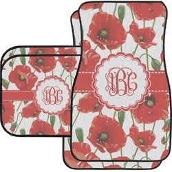 Poppies Car Floor Mats Set - 2 Front & 2 Back (Personalized)