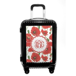 Poppies Carry On Hard Shell Suitcase (Personalized)