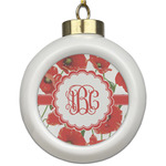 Poppies Ceramic Ball Ornament (Personalized)