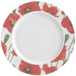 Poppies Ceramic Dinner Plates (Set of 4) (Personalized)