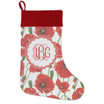 Poppies Holiday Stocking w/ Monogram