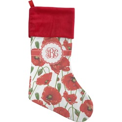 Poppies Christmas Stocking (Personalized)