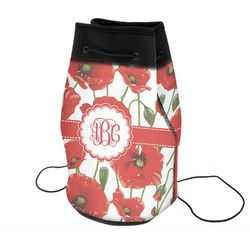 Poppies Neoprene Drawstring Backpack (Personalized)