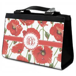 Poppies Classic Tote Purse w/ Leather Trim (Personalized)