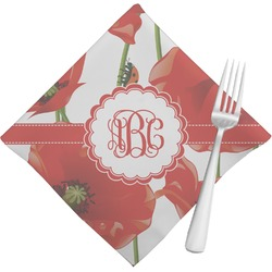 Poppies Cloth Napkins (Set of 4) (Personalized)