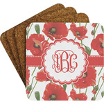 Poppies Coaster Set w/ Stand (Personalized)