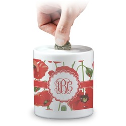 Poppies Coin Bank (Personalized)