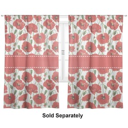 "Poppies Curtains - 40""x84"" Panels - Unlined (2 Panels Per Set) (Personalized)"