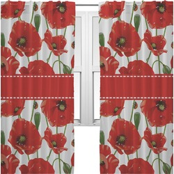Poppies Curtains (2 Panels Per Set) (Personalized)