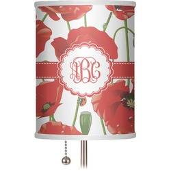 """Poppies 7"""" Drum Lamp Shade (Personalized)"""