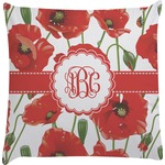 Poppies Decorative Pillow Case (Personalized)