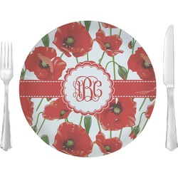 Poppies Dinner Plate (Personalized)