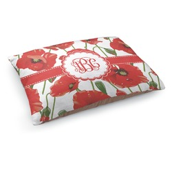 Poppies Dog Pillow Bed (Personalized)