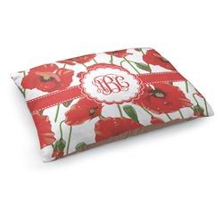 Poppies Dog Bed - Medium w/ Monogram