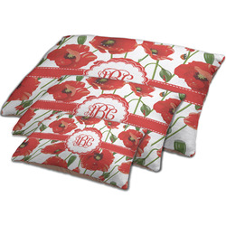 Poppies Dog Bed w/ Monogram