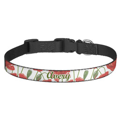 Poppies Dog Collar (Personalized)
