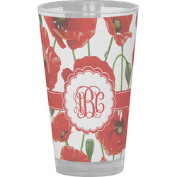 Poppies Drinking / Pint Glass (Personalized)