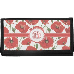 Poppies Canvas Checkbook Cover (Personalized)