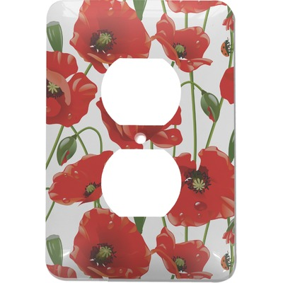 Poppies Electric Outlet Plate (Personalized)