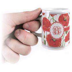Poppies Espresso Mug - 3 oz (Personalized)