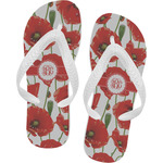 Poppies Flip Flops (Personalized)