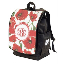 Poppies Backpack w/ Front Flap  (Personalized)