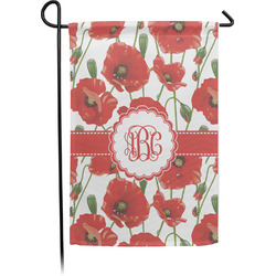 Poppies Garden Flag - Single or Double Sided (Personalized)