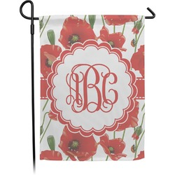Poppies Garden Flag (Personalized)