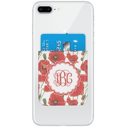 Poppies Genuine Leather Adhesive Phone Wallet (Personalized)