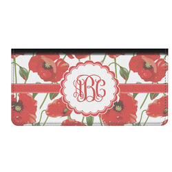 Poppies Genuine Leather Checkbook Cover (Personalized)