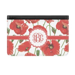 Poppies Genuine Leather ID & Card Wallet - Slim Style (Personalized)