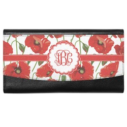 Poppies Genuine Leather Ladies Wallet (Personalized)