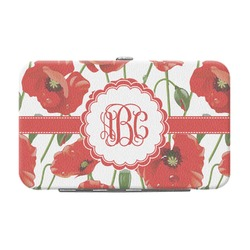 Poppies Genuine Leather Small Framed Wallet (Personalized)